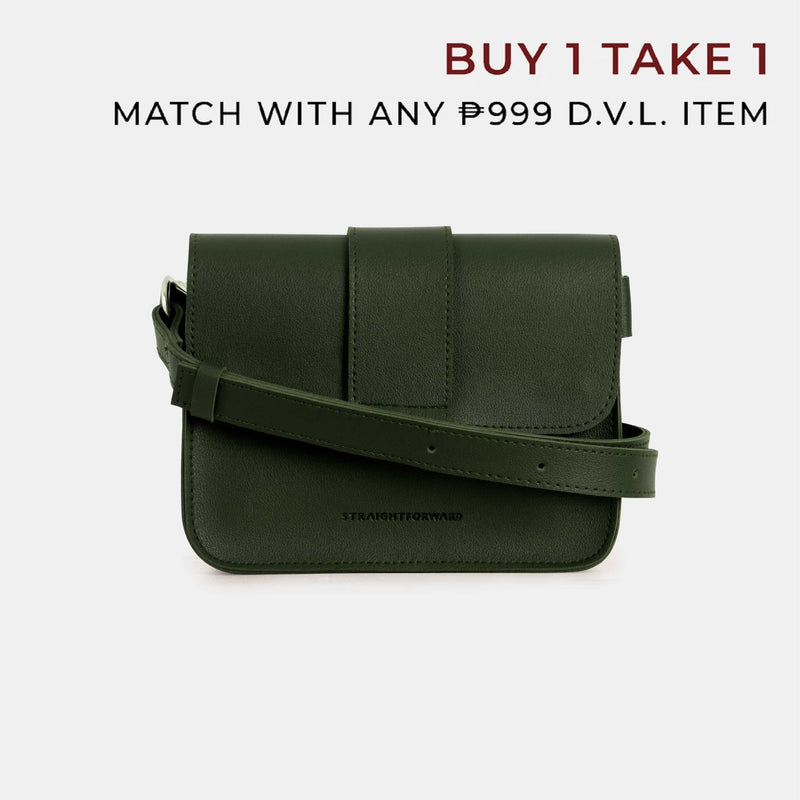 D.V.L. Mini Flap Square Bag (Army Green)