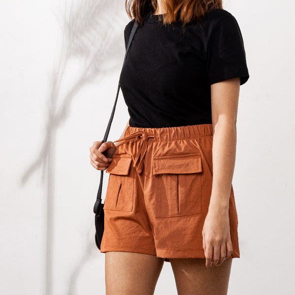 Easywear Pocket Patched Shorts (Rust)