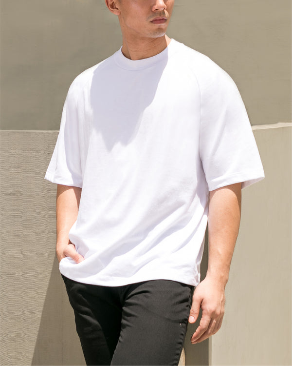 Ultrasoft Elbow Length Tee (White)