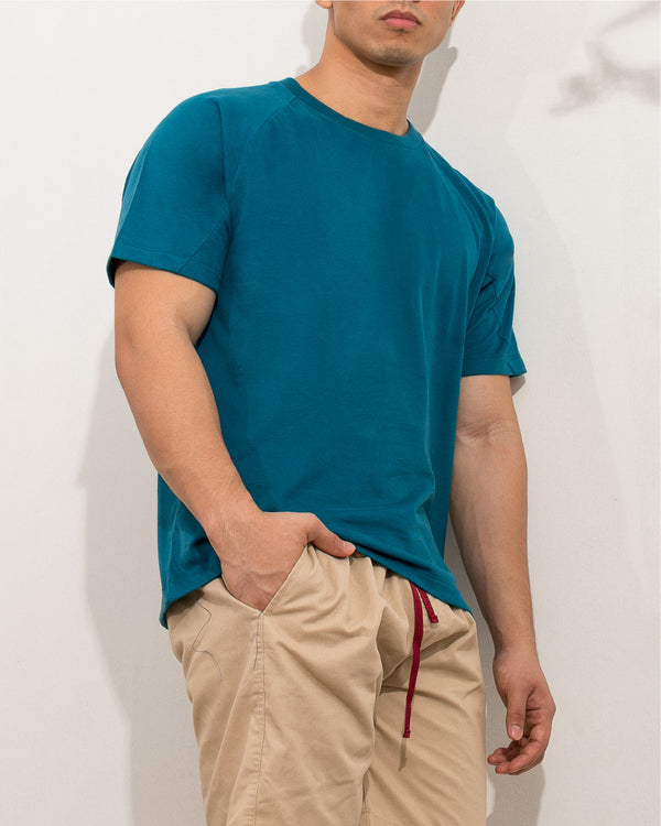 Ultrasoft Seam Detail Raglan (Teal)