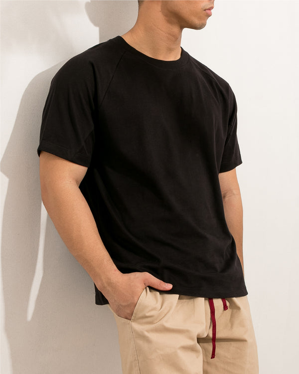 Ultrasoft Seam Detail Raglan (Black)