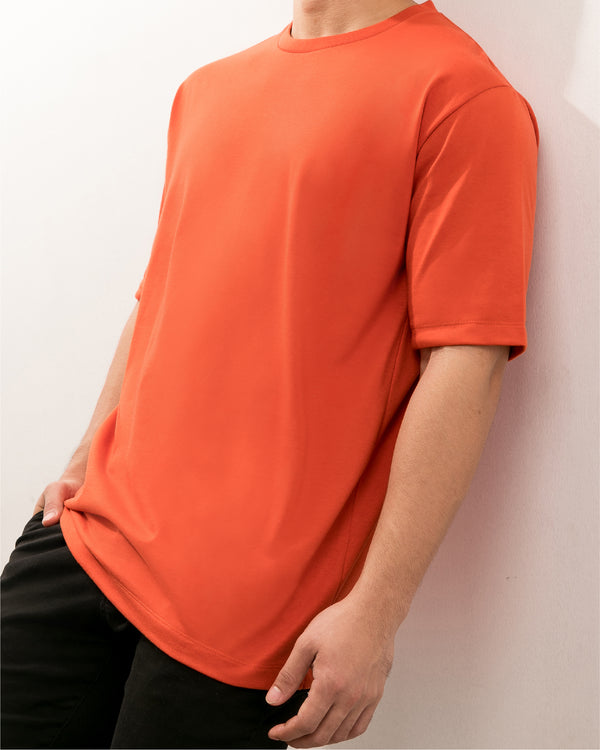 Weighted Blend Oversized Tee (Rust)