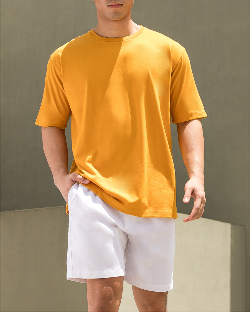 Weighted Blend Oversized Tee (Mustard)