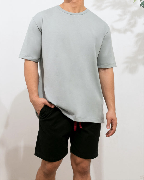 Weighted Blend Oversized Tee (Whispy Blue)