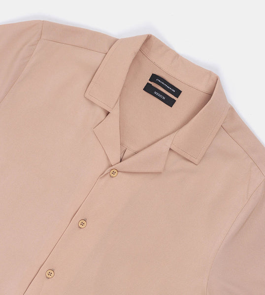 SuperSoft Crepe Shirt (Beige) - Detailed
