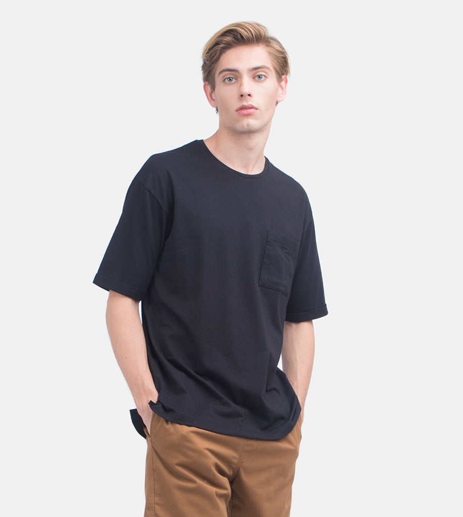 Folded Pocket Tee (Black)