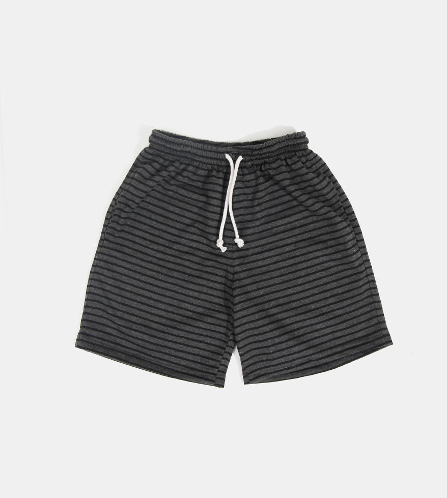Soft, Stretchy, and Striped Shorts (Black)