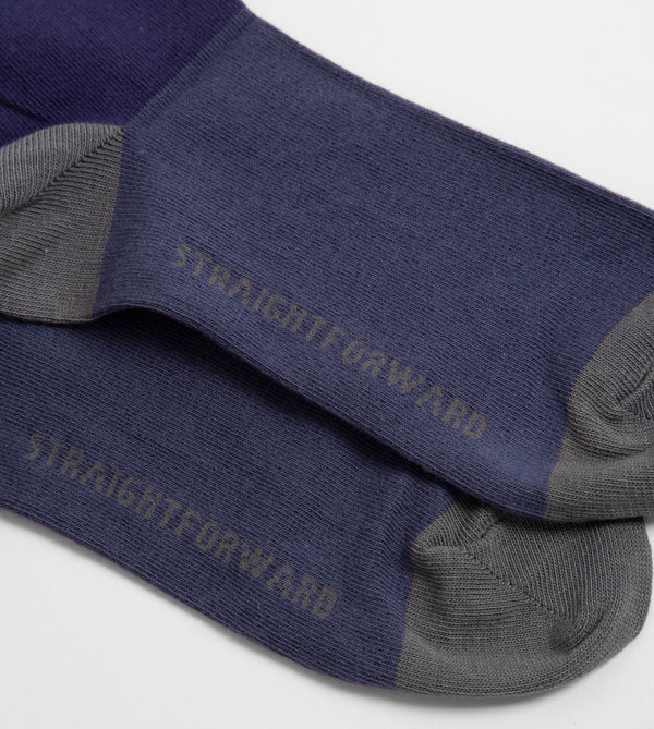 LiteWear Crew Socks (Navy Blue)