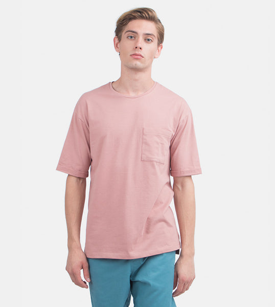 Folded Pocket Tee (Blush)