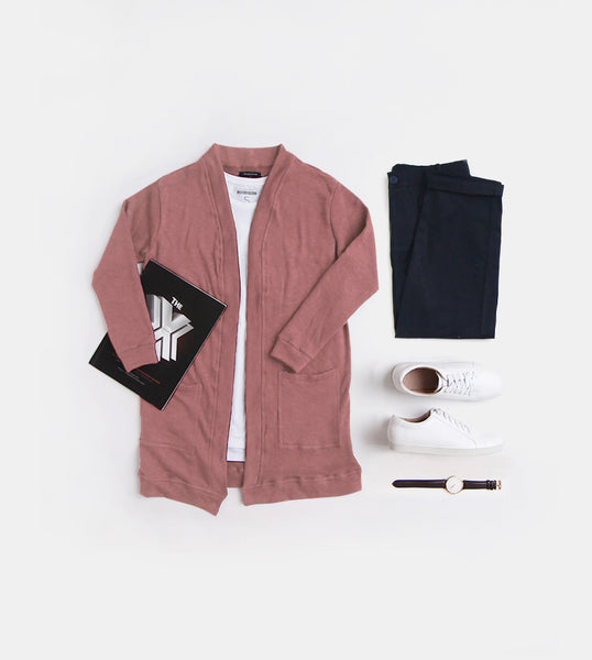 Fleece Cardigan (Blush)