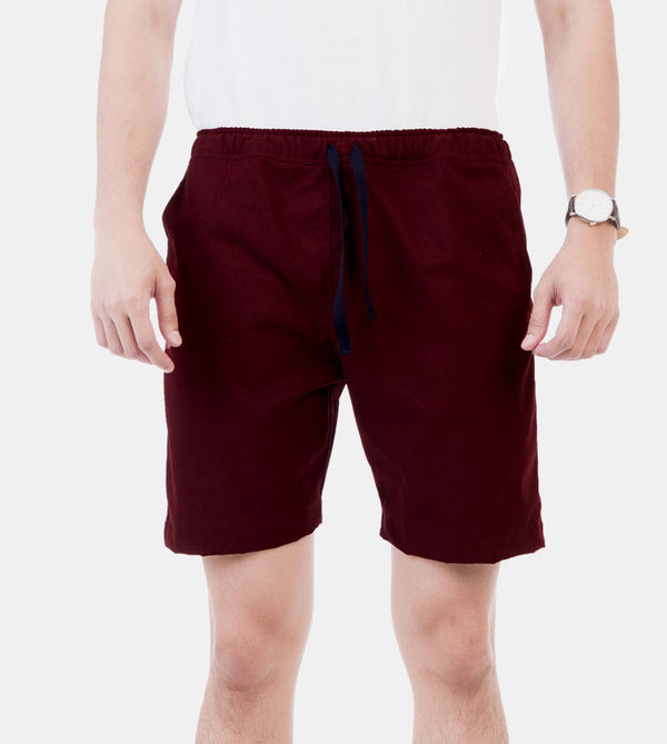 Tailored Shorts (Burgundy)
