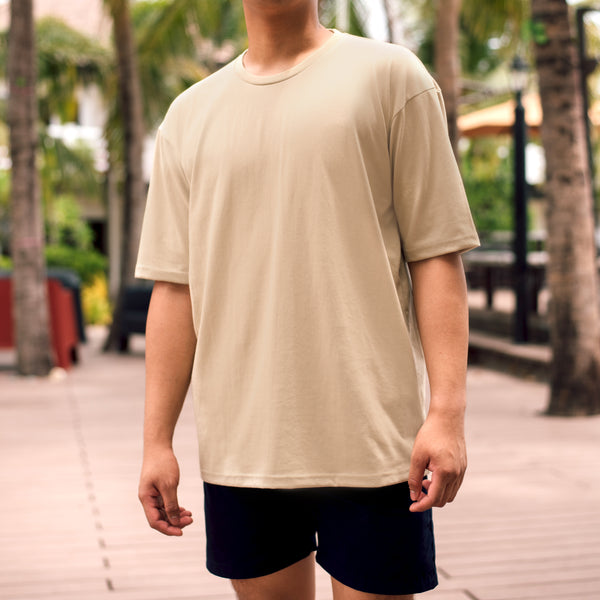 Weighted Blend Oversized Tee (Khaki)
