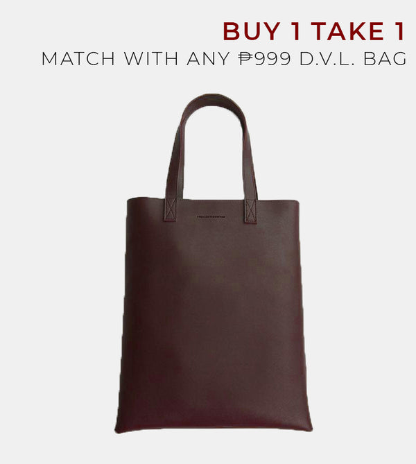 D.V.L. Portrait Tote Bag (Chestnut)