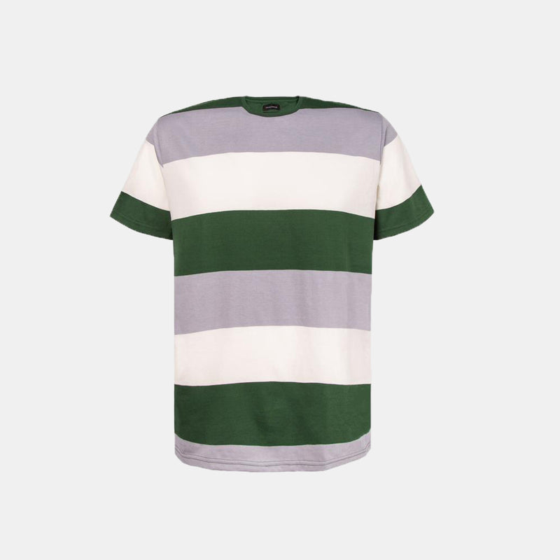 Essential Blend Paneled Tee (Spanish Green)