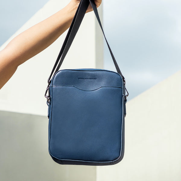 D.V.L. Reporter Bag (Navy Blue)