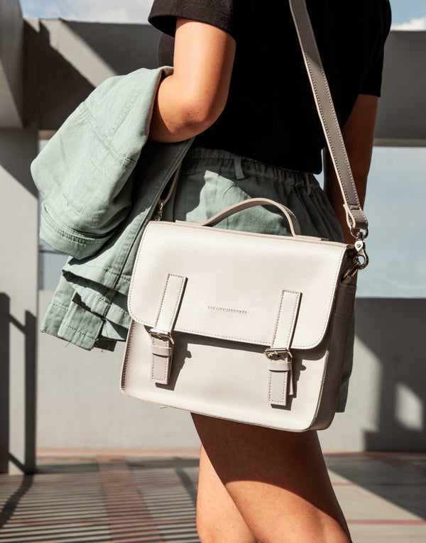 D. V. L. Mini Satchel Bag (Cool Gray)