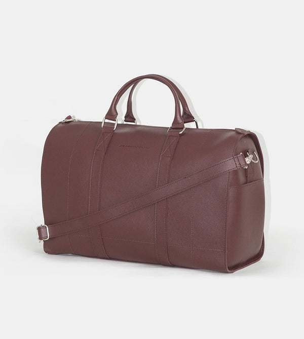 Leather Duffel Bag (Chestnut)