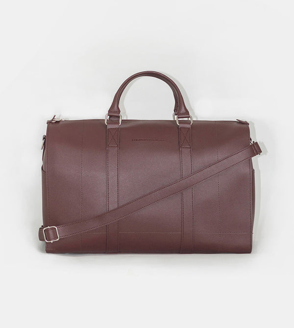 Leather Duffel Bag (Chestnut) - Product Shot