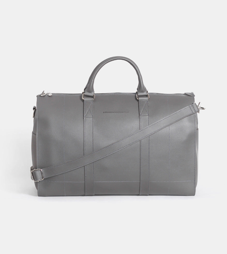 Leather Duffel Bag (Wine) - Product Shot