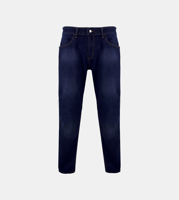 Men's Dynamic Denim Slim Fit Jeans (Denim Blue)
