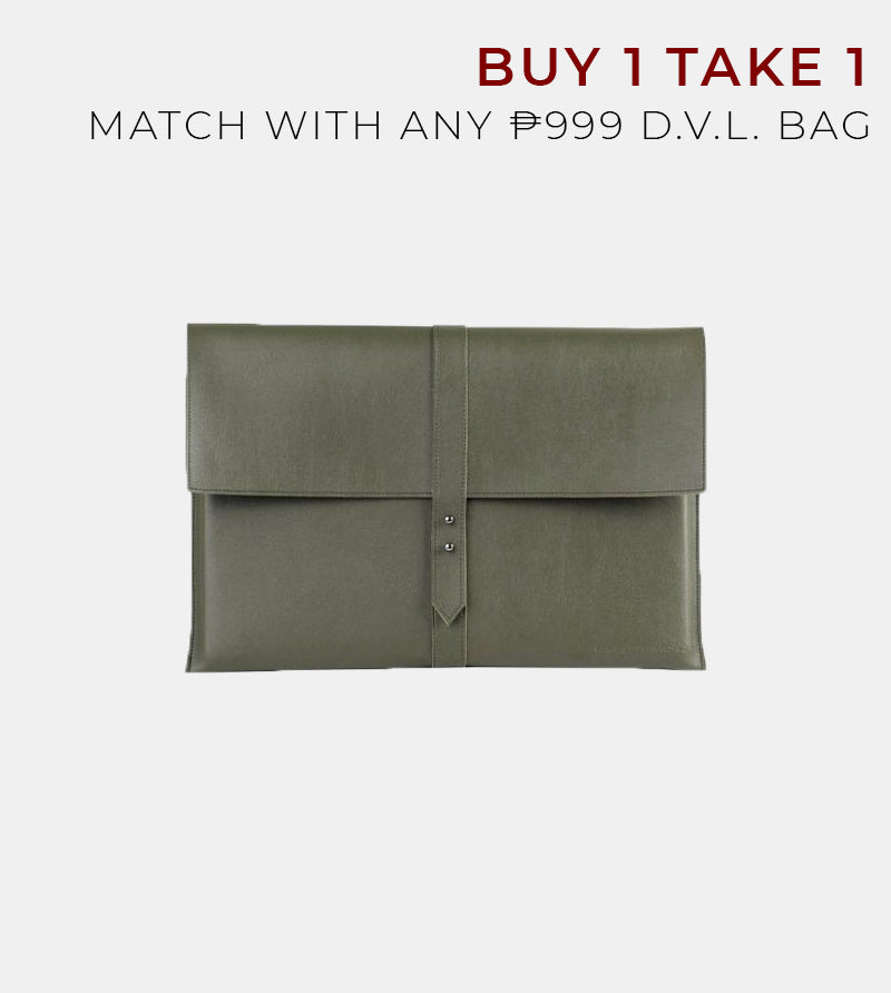 D. V. L. Elegant Laptop Case (Army Green)