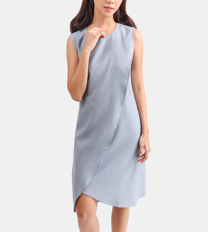 The Layered Shift Dress (Light Grey)