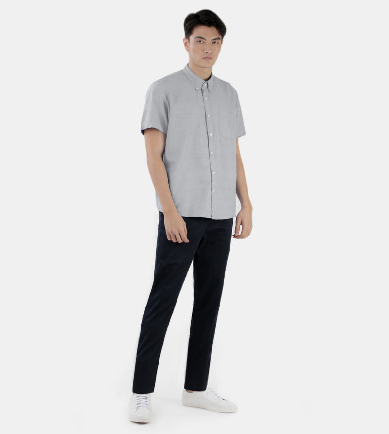 Work & Play Button Down (Gray) - Style