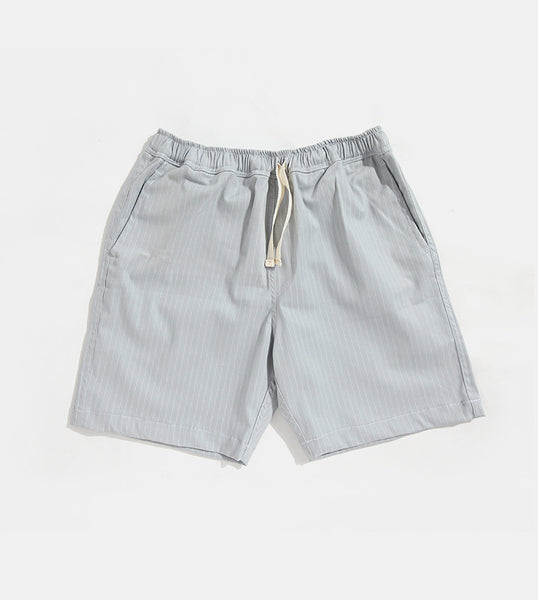 Premium Pin Stripes Shorts (Gray) - Product Shot