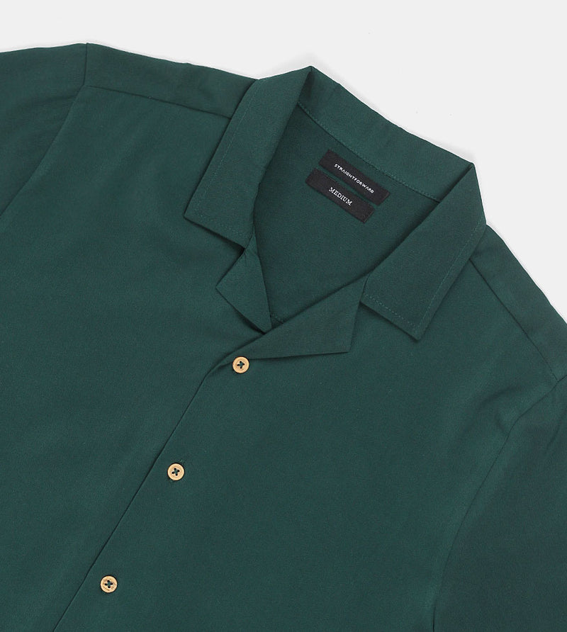 SuperSoft Crepe Shirt (Green) - Detailed