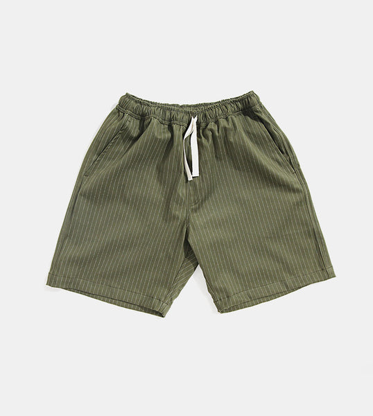 Premium Pin Stripes Shorts (Green) - Product Shot