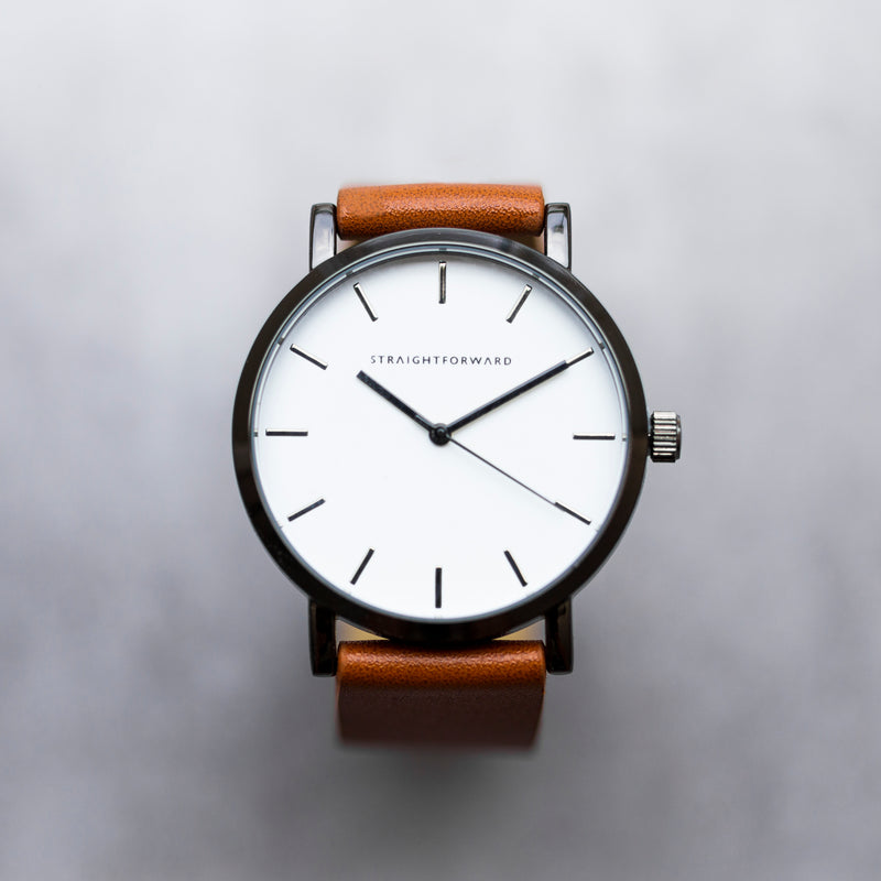 The Everyday Watch (Brown and White)