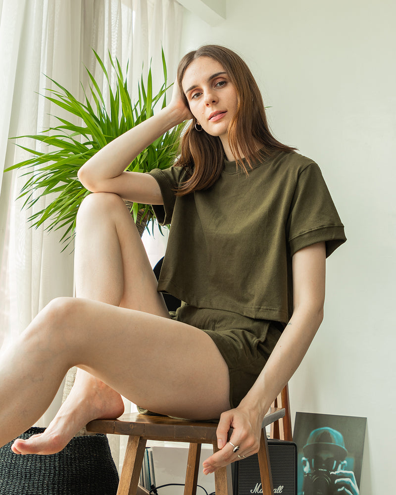Women's UltraSoft Co-ords (Army Green)