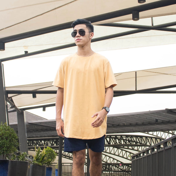 Ultra Soft Blend Long Tee (Mustard)
