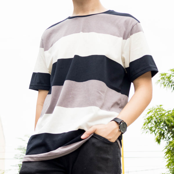 Essential Blend Paneled Tee (Moonmist)