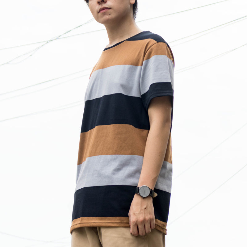 Essential Blend Paneled Tee (Light Brown)