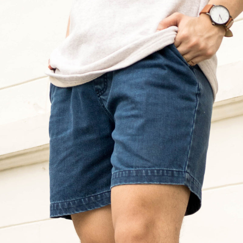 Dynamic Denim Shorts (Light Blue)