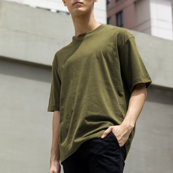 UltraSoft Blend Mock Tee (Army Green)