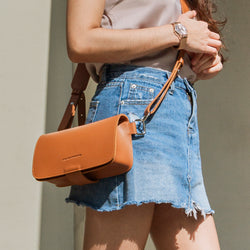 D. V. L. Flap Crossbody Bag (Tan)