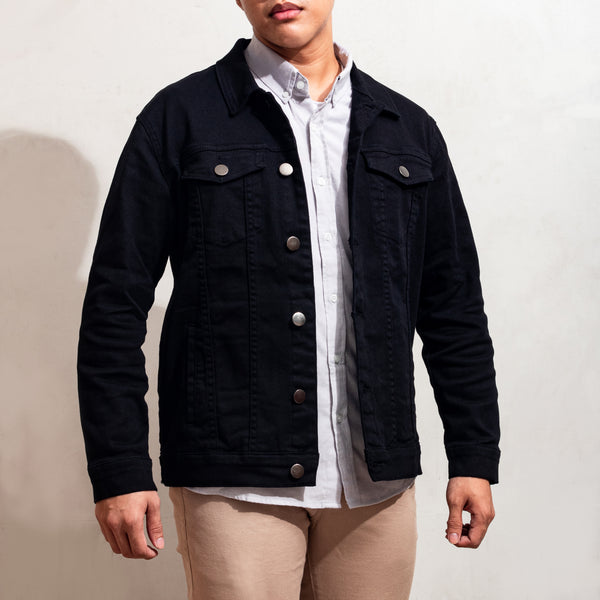 Dynamic Denim Jacket (Black)