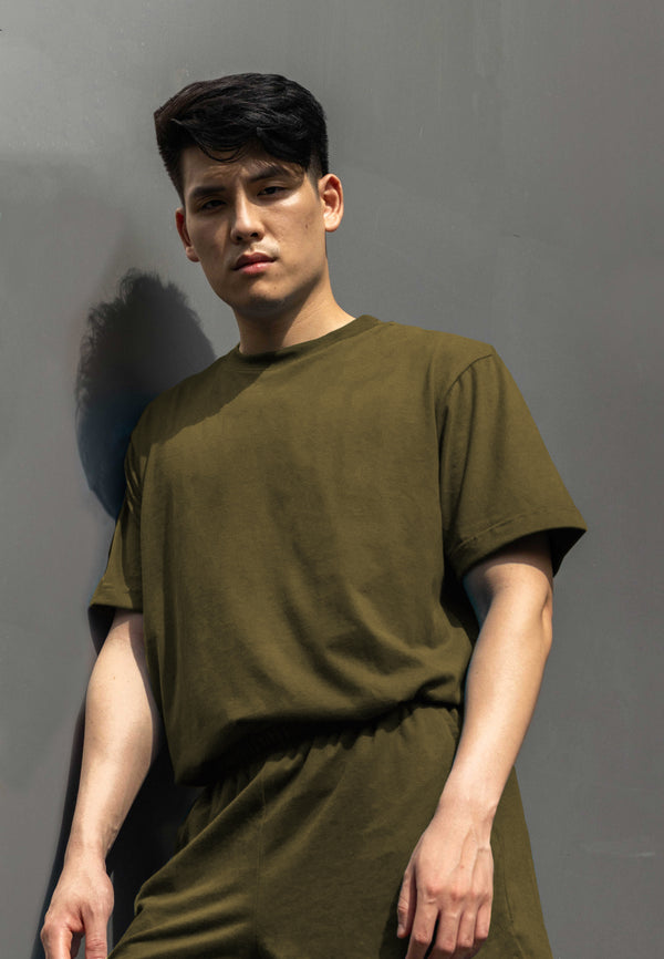 Men's UltraSoft Co-ords (Army Green)