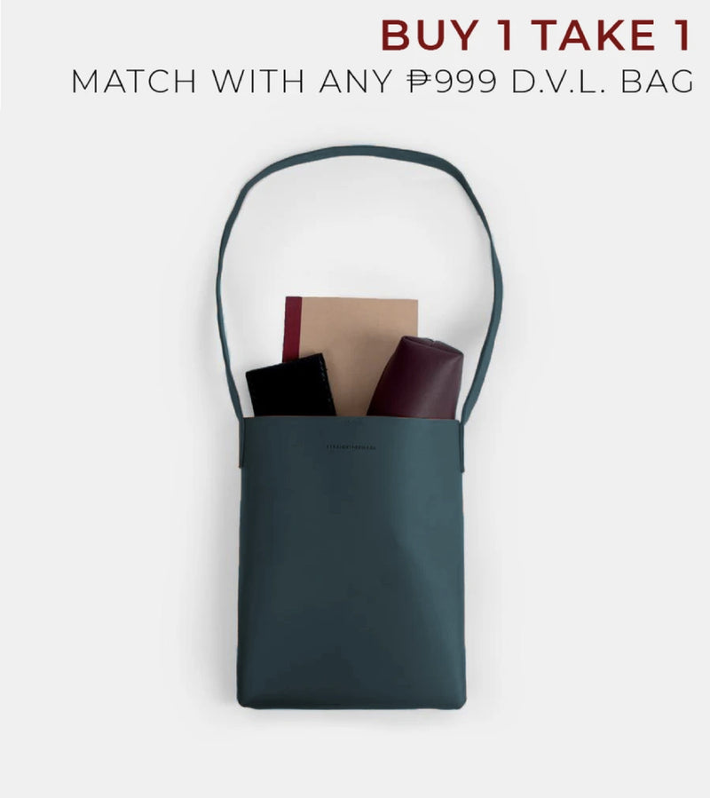D. V. L. Tote Bag with Sling (Teal)