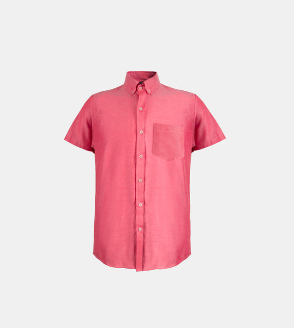 Japanese Chambray Work & Play Shirt (Maroon)