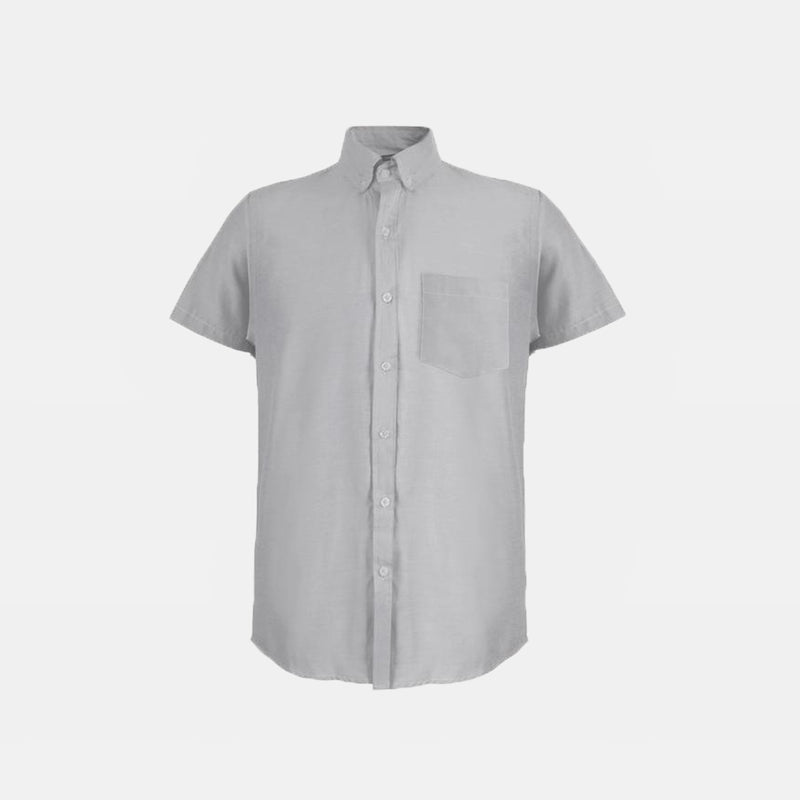 Japanese Chambray Work & Play Shirt (Gray)