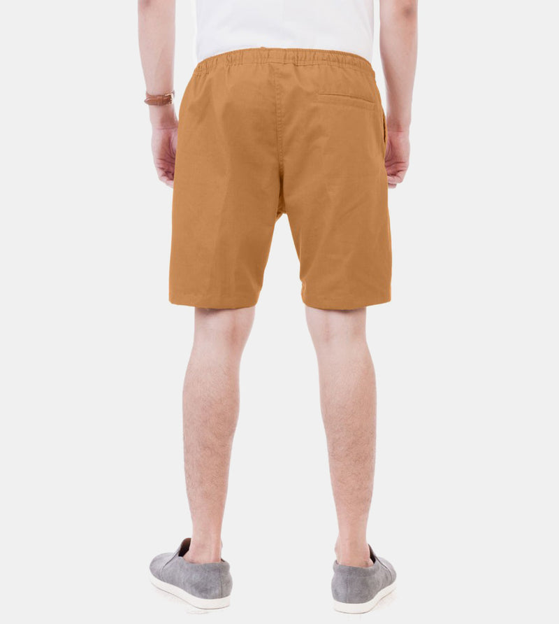 Tailored Shorts (Khaki) - Back