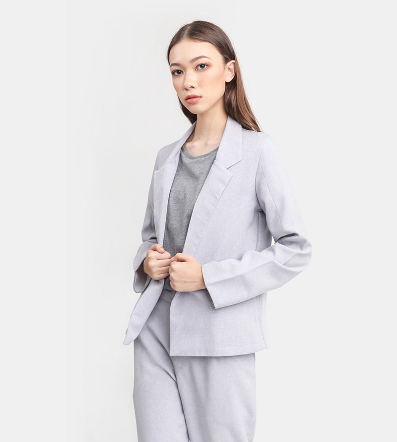The Easy Tailored Blazer (Light Grey)