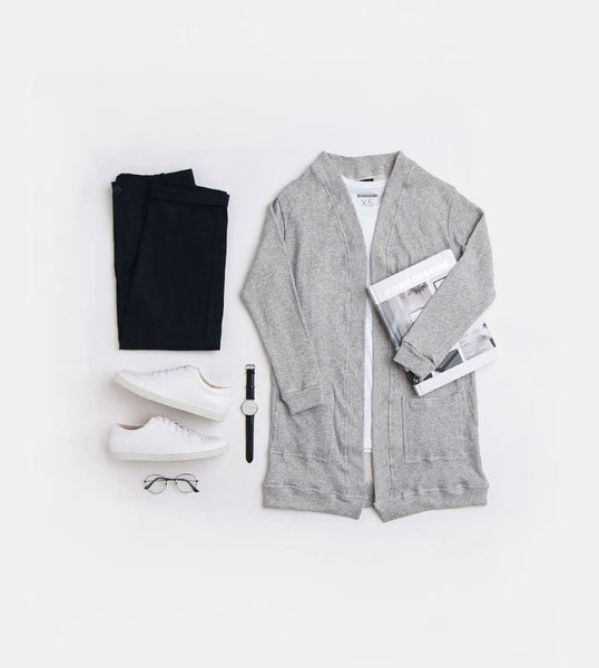 Fleece Cardigan (Light Gray)
