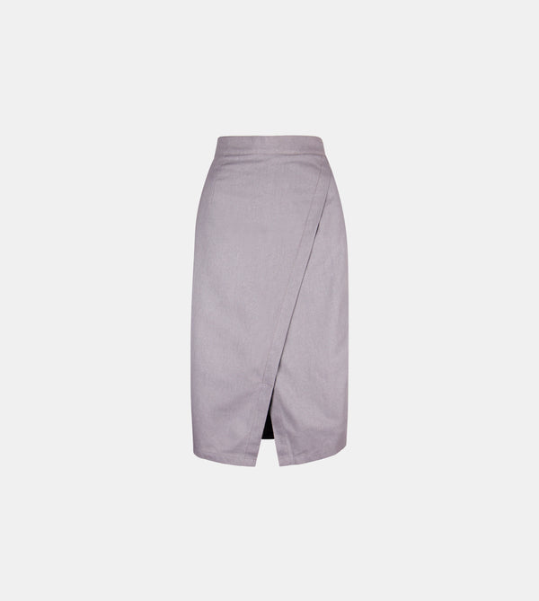 Lux Linen Skirt (Gray)