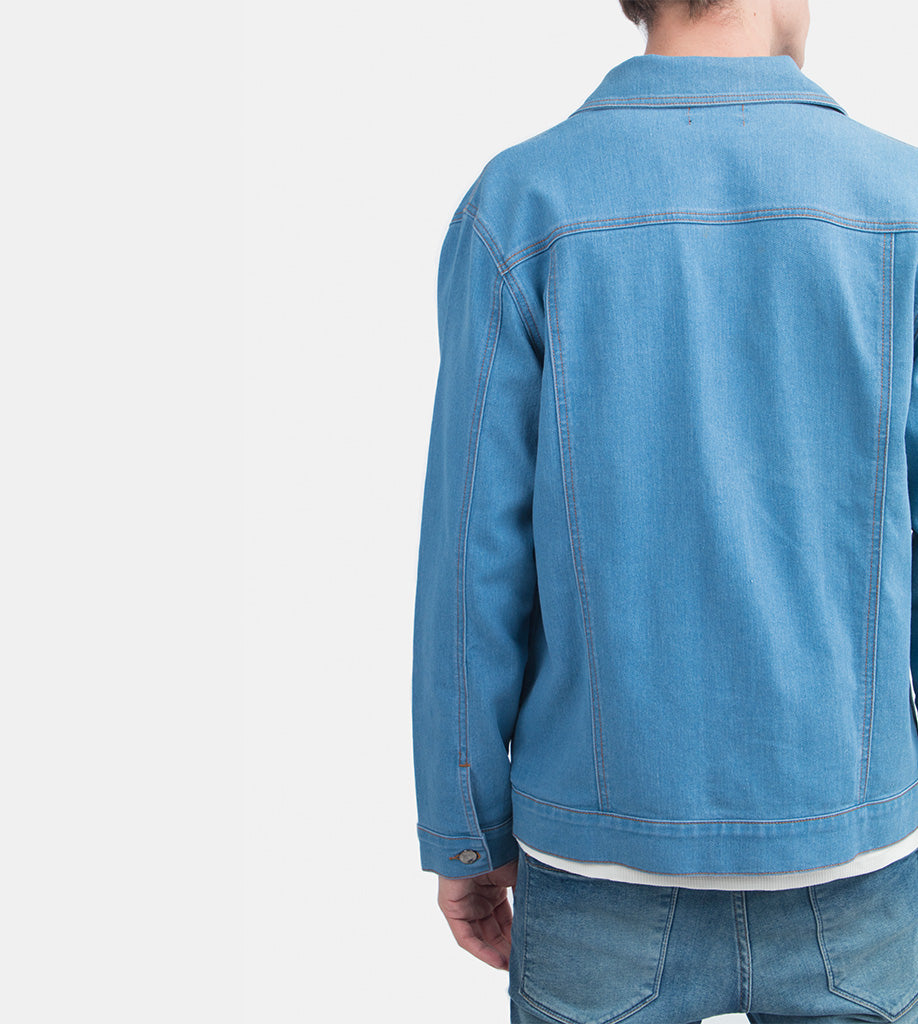 The Problem Solver Denim Jacket (Light Blue)