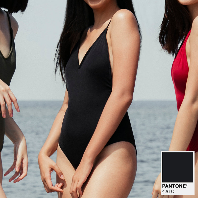 Signature V-Neck One Piece (Black)