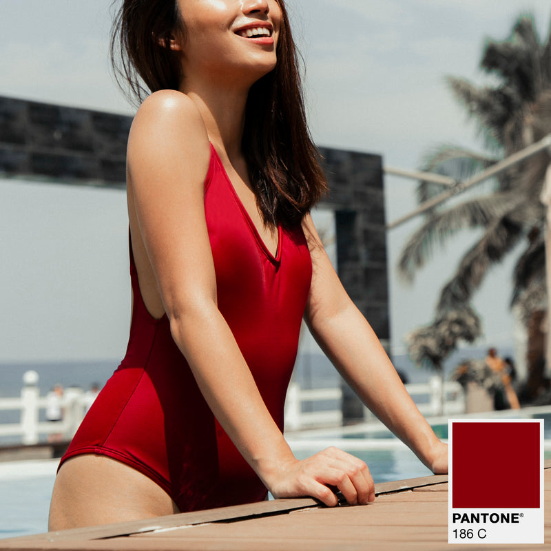Signature V-Neck One Piece (Maroon)